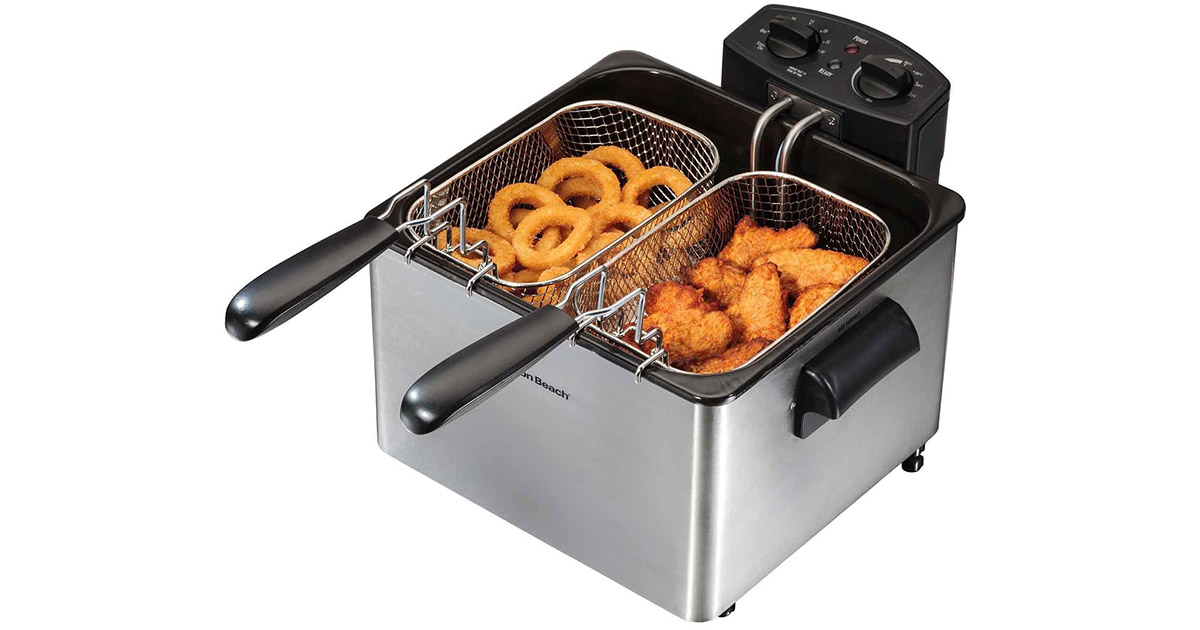 Hamilton Beach 35034 Professional Style Electric 12 Cup Oil Capacity Deep Fryer image