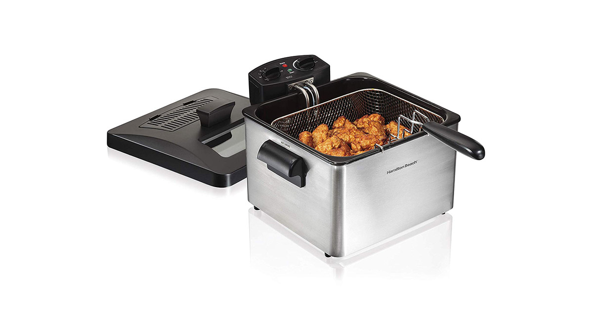 Hamilton Beach 35034 Triple Basket Electric Deep Fryer image