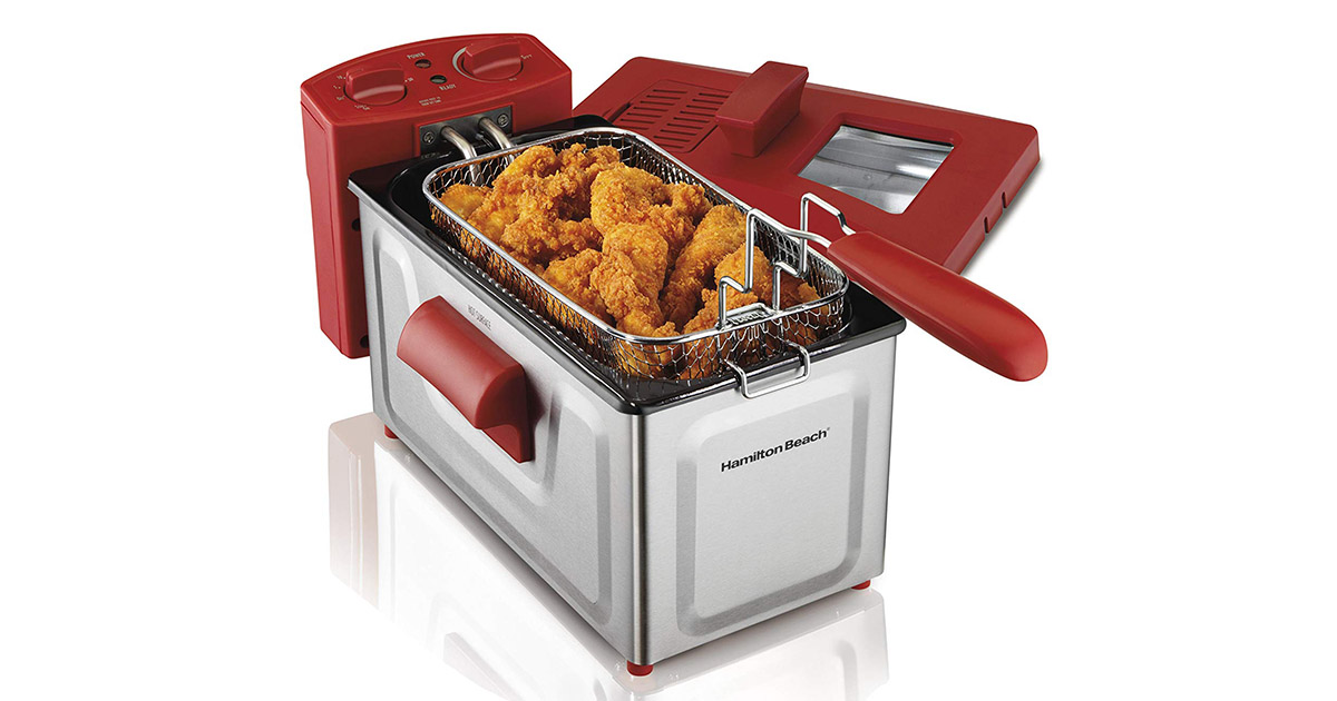 Hamilton Beach 35201 Fast Cooking Stainless Steel Deep Fryer image