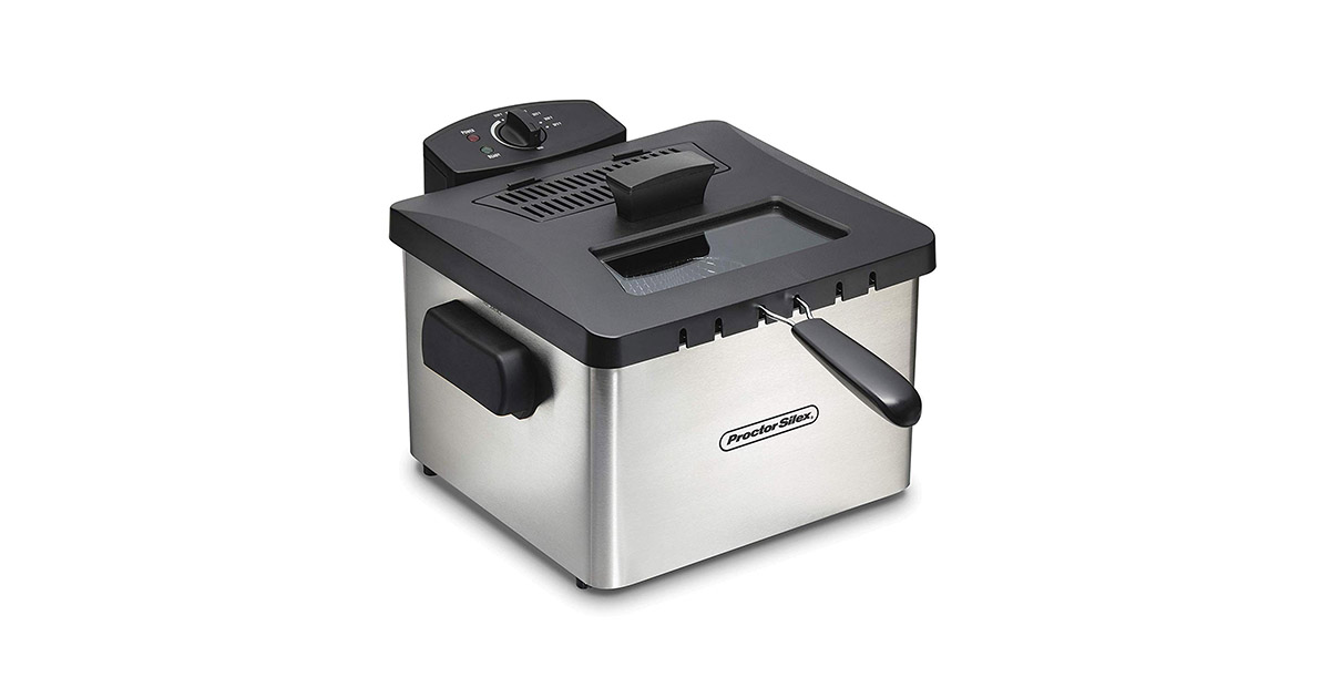Proctor Silex 35044 Professional Style Silver Deep Fryer image