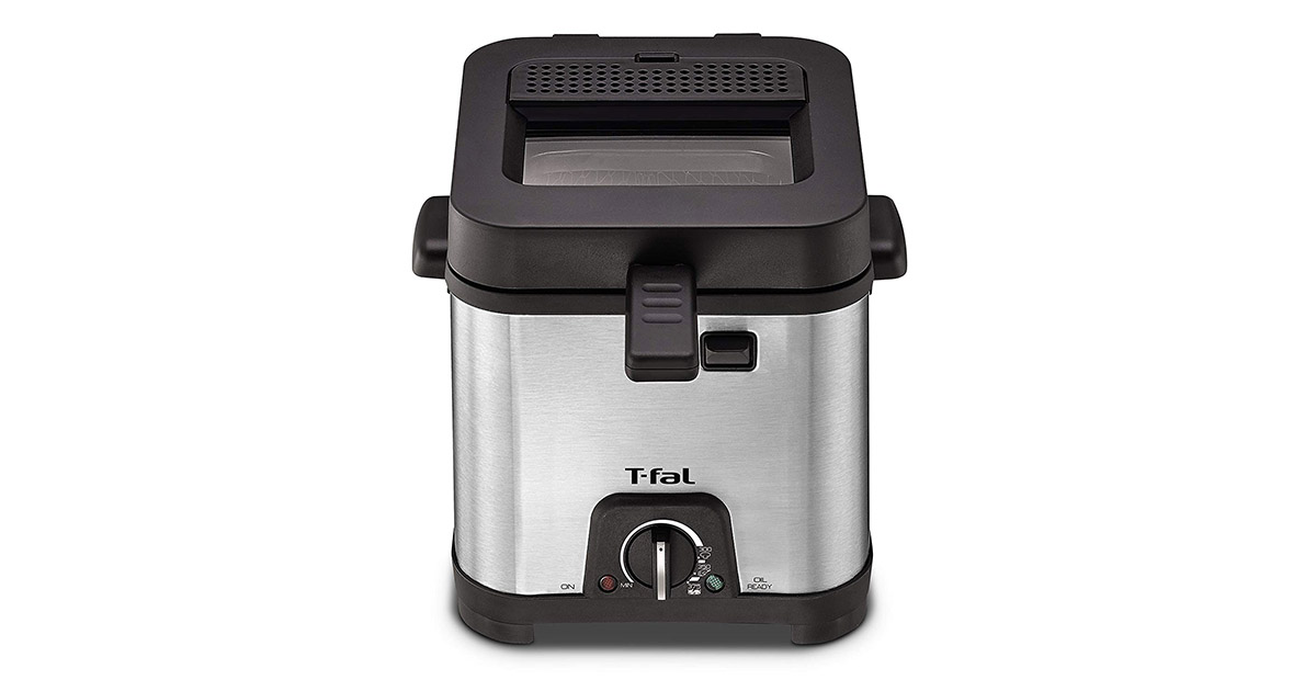 T-fal FF492D Stainless Steel Adjustable Temperature Mini Deep Fryer image