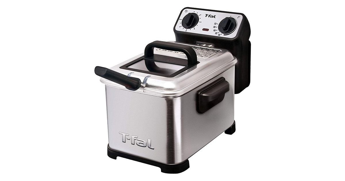 T-fal FR4049 Family Pro 3-Liter Oil Capacity Electric Silver Deep Fryer image