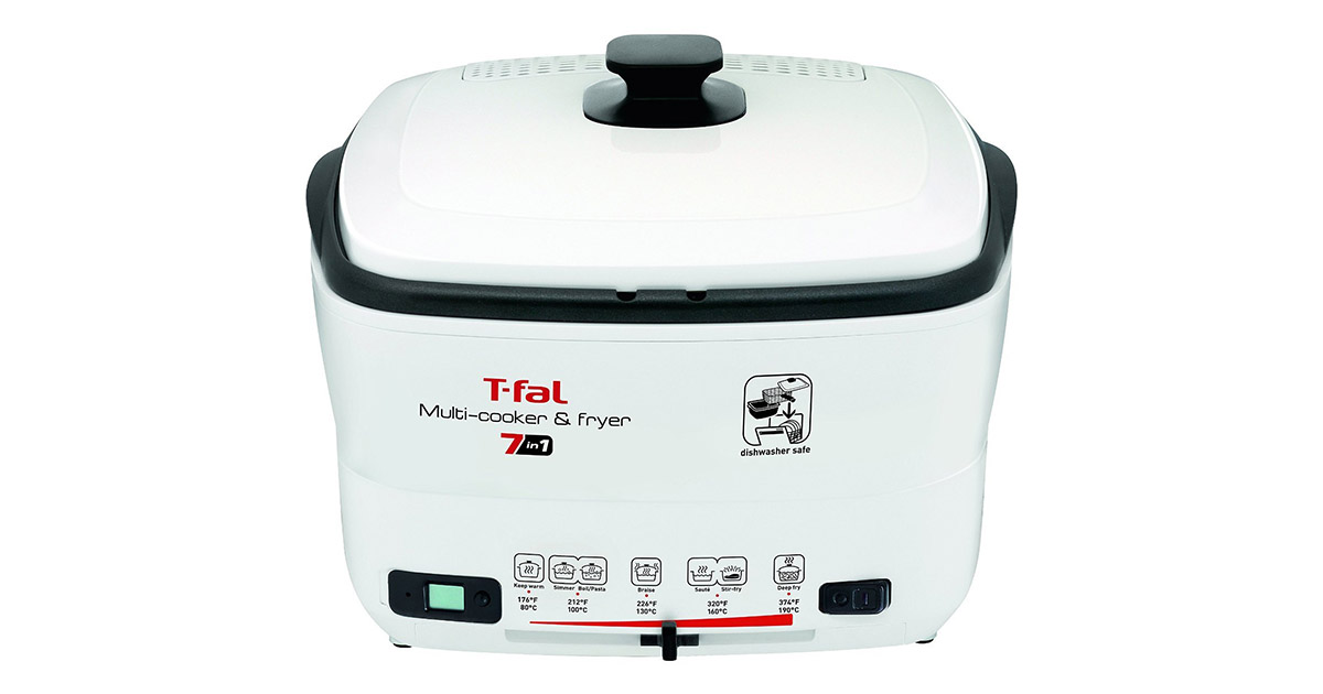 T-fal FR490051 7-in-1 Multi Cooker and White Deep Fryer image