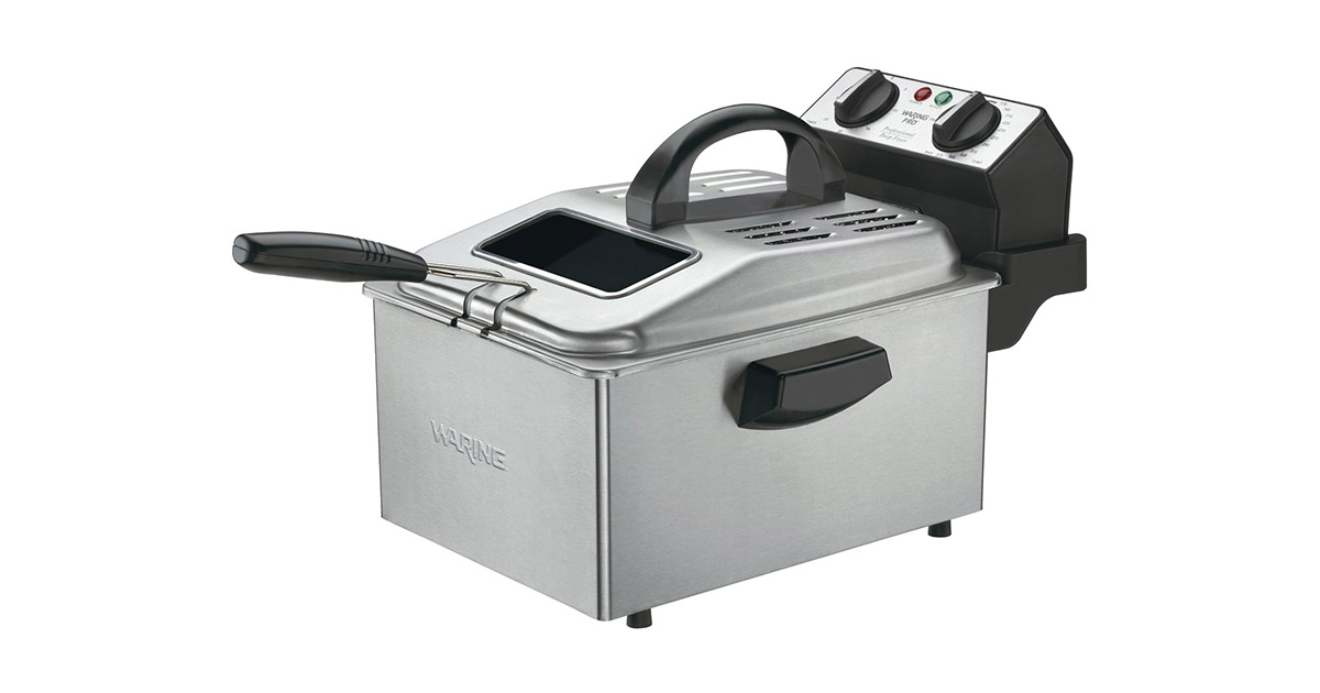 Waring DF250B 1800-Watt Brushed Stainless Deep Fryer image