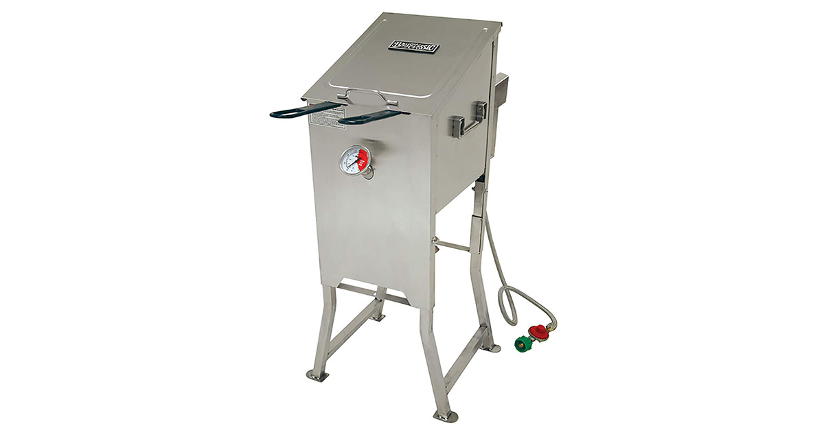 Bayou Classic 700-701-4 Gallon Bayou Stainless Steel Fryer image