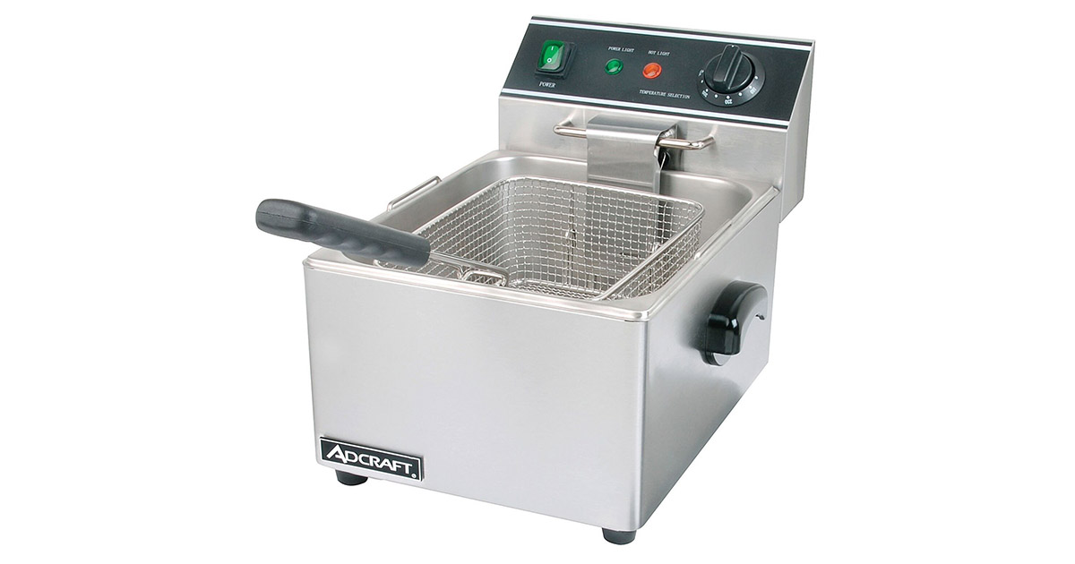 Empura DF6L Countertop Stainless Steel Single Tank Deep Fryer image