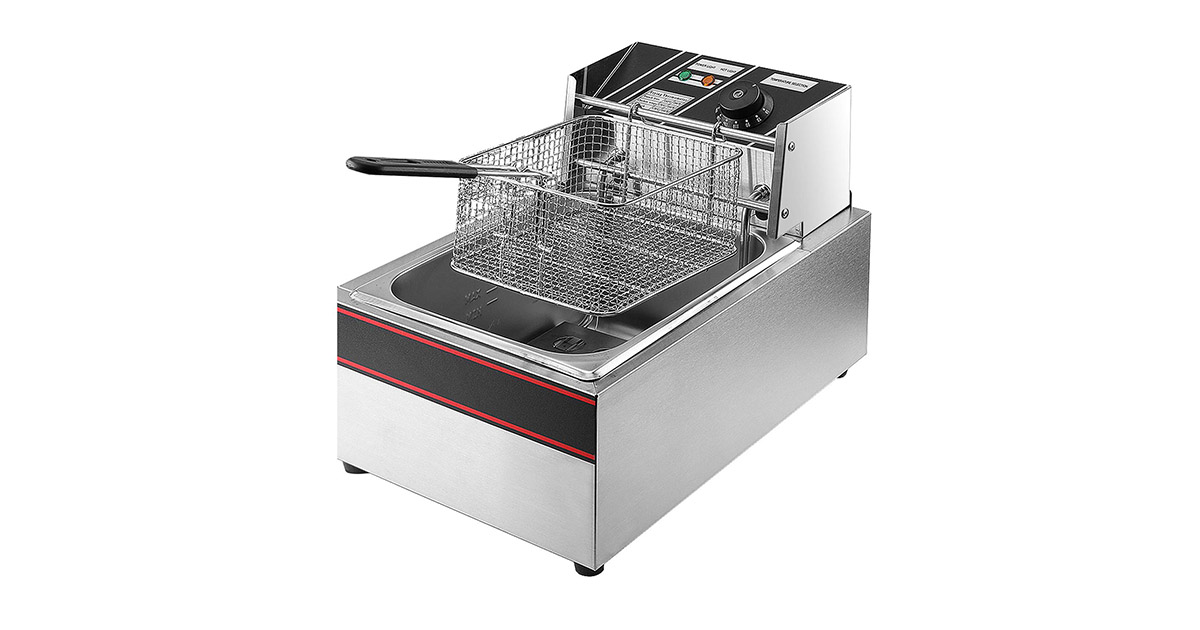 Flexzion Stainless Steel Electric Deep Fryer image