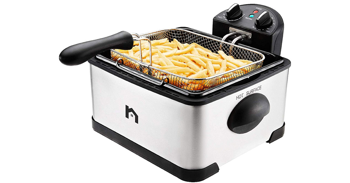 New House Kitchen Jumbo Size Deep Fryer image