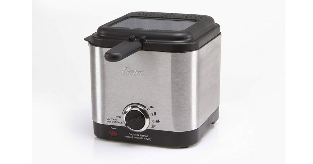Oster CKSTDF102-SS Style Compact Stainless Steel Deep Fryer image