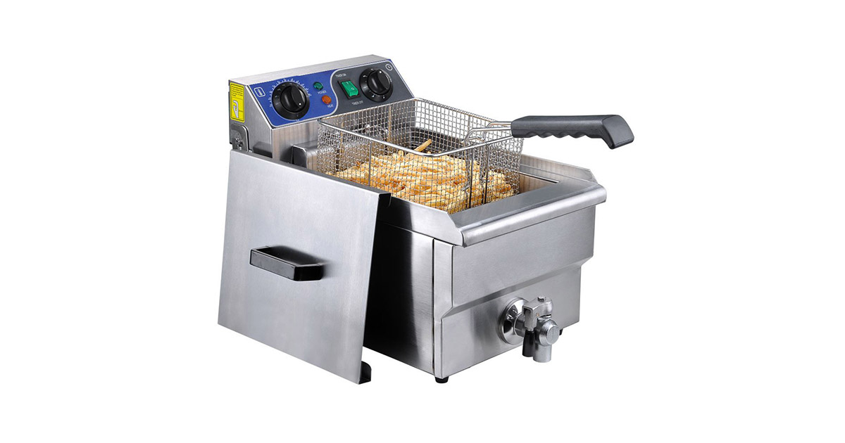 Yescom 26FRY003-10LS-DT Commercial Professional Electric Deep Fryer image