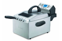 Waring Pro DF280 Professional Deep Fryer, Brushed Stainless – Cooks 3 different snacks at a time!